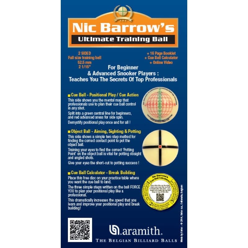 products Nic Barrows aramith training ball 1