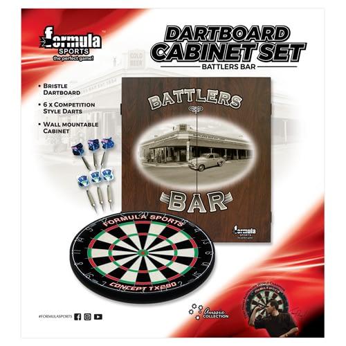 605200 Battlers Bar Cabinet Set LR
